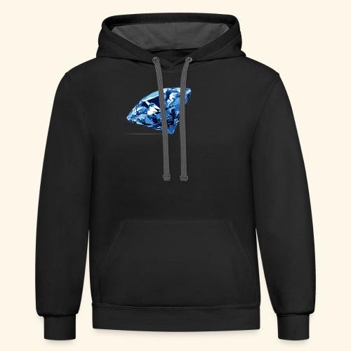 Blue Diamonds - Contrast Hoodie