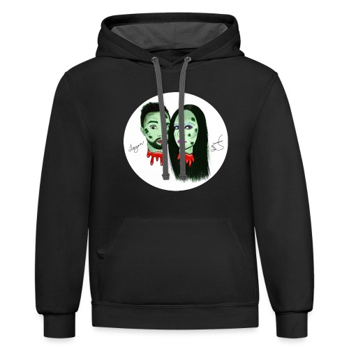 Taylor Angus Zombies - Unisex Contrast Hoodie