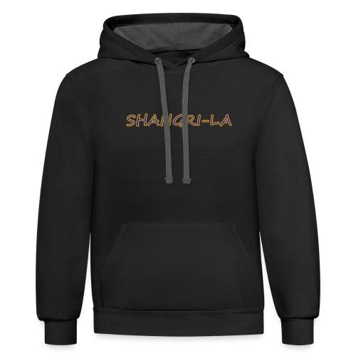 Shangri La gold blue - Contrast Hoodie