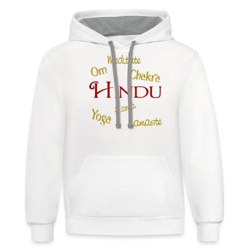 It's all Hindu - Contrast Hoodie