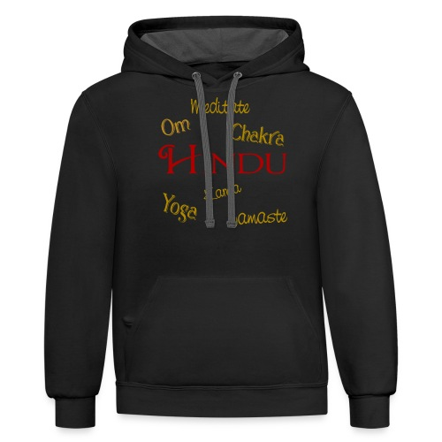 It's all Hindu - Contrast Hoodie