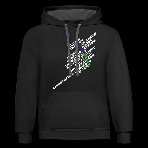 I Love Trance - Unisex Contrast Hoodie
