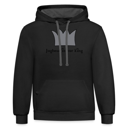 Jughead is our king - Contrast Hoodie