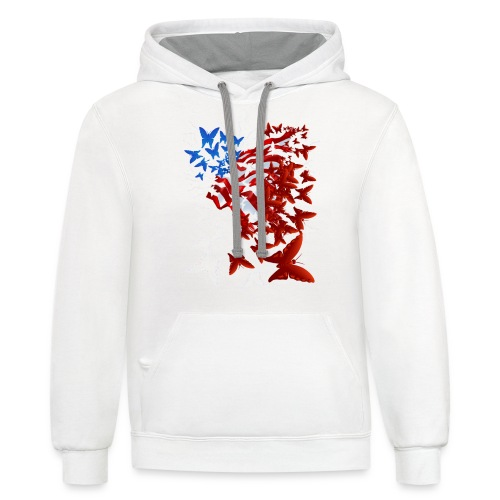 The Butterfly Flag - Contrast Hoodie