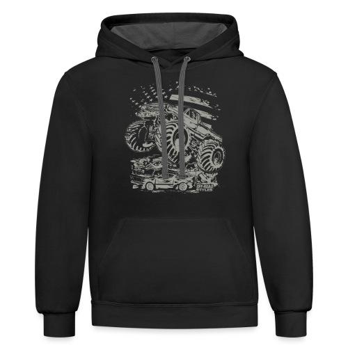 Monster Truck USA - Contrast Hoodie