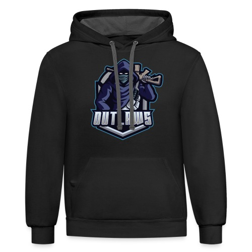 Outlaws Gaming Clan - Unisex Contrast Hoodie