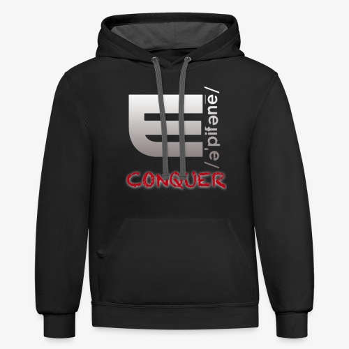 """EPIPHANY LIFESTYLE """"CONQUER"""" - Unisex Contrast Hoodie"""