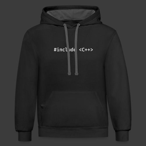 White Include Logo - Contrast Hoodie