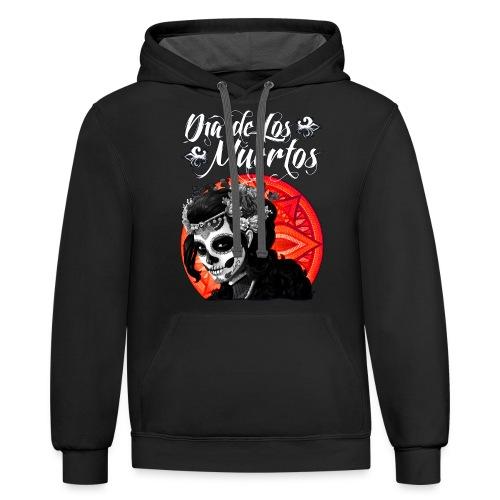 Dia de Los Muertos 01 - Unisex Contrast Hoodie
