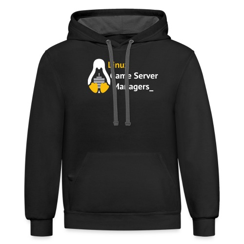 Linux Game Server Managers - Unisex Contrast Hoodie
