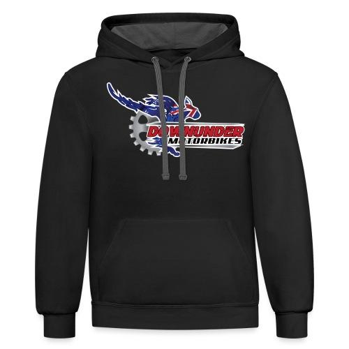 DownUnder Motorbikes Logo 01 - Contrast Hoodie