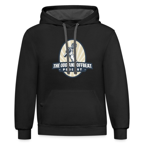 The Odd and Offbeat Podcast Logo - Contrast Hoodie