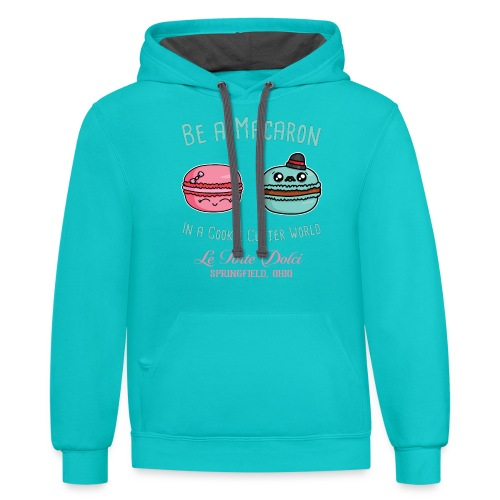Be a Macaron - Unisex Contrast Hoodie