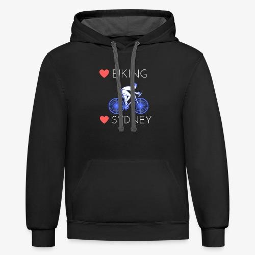 Love Biking Love Sydney tee shirts - Contrast Hoodie