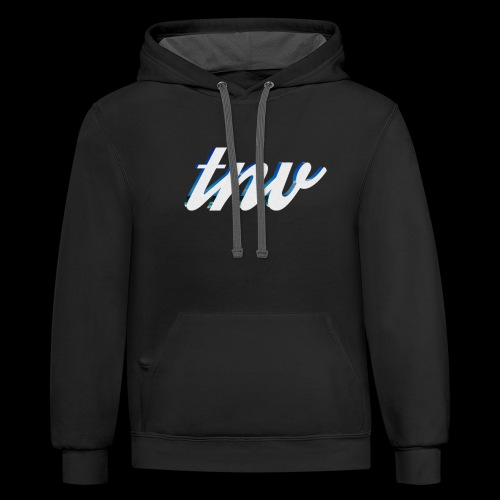 TNV WHITE DESIGN CLSSC png - Contrast Hoodie