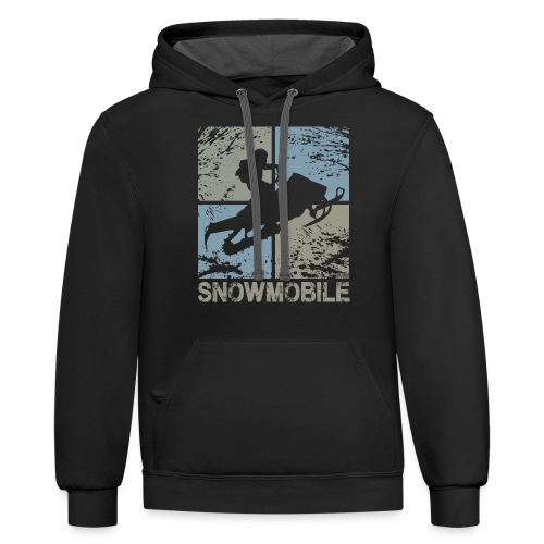 Snowmobile Squared - Contrast Hoodie