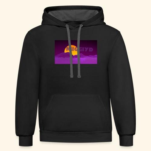 purple boy shirt - Contrast Hoodie