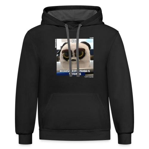 Crypto Panda Is Watching (Crypto Series) - Contrast Hoodie