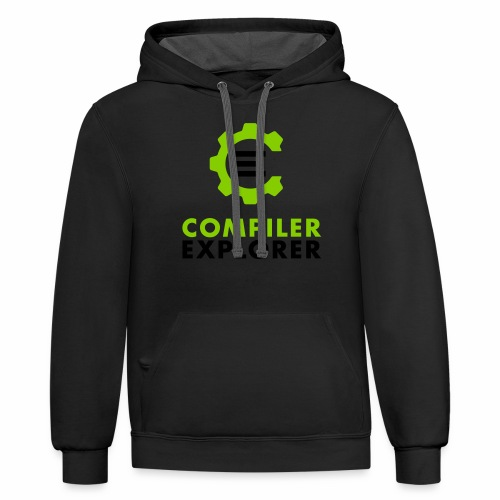 Logo and text - Unisex Contrast Hoodie
