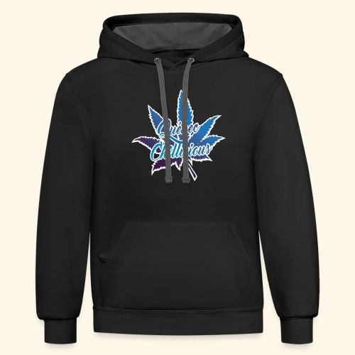 One Leaf Quebec Chillicious clothing brand - Contrast Hoodie
