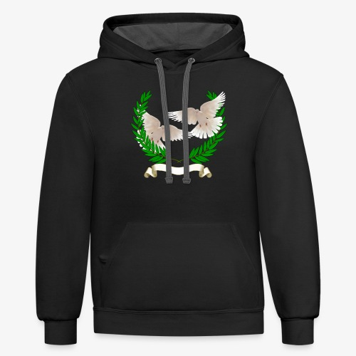 OLIVE BRANCH DOVES - Contrast Hoodie