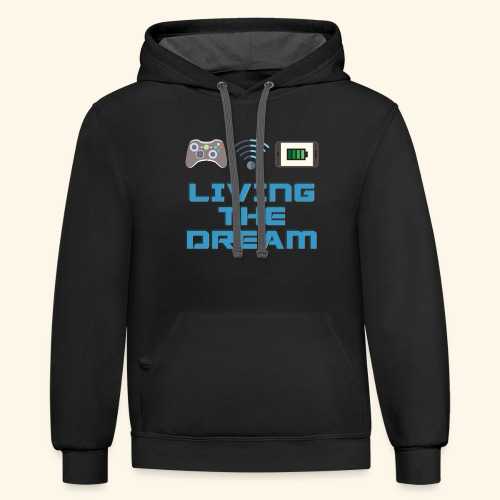 Living the Dream - Unisex Contrast Hoodie