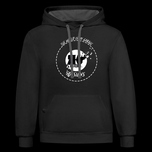 The World is My Garage - Unisex Contrast Hoodie