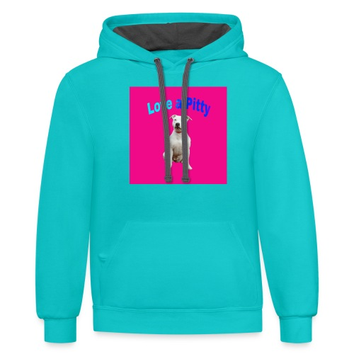 Pink Pit Bull - Contrast Hoodie