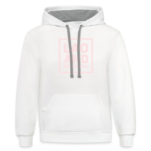LAO AND BEAUTIFUL pink - Contrast Hoodie