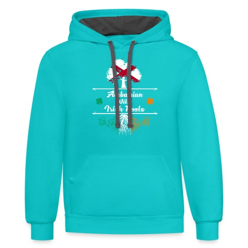 ALABAMIAN WITH IRISH ROOTS - Contrast Hoodie
