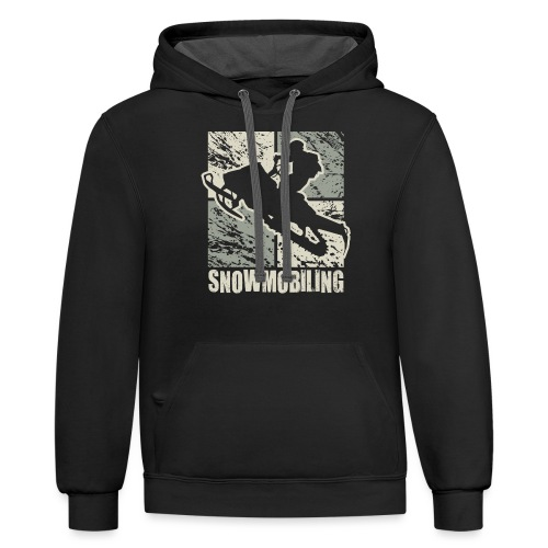 Snowmobile Rider Cubism - Contrast Hoodie