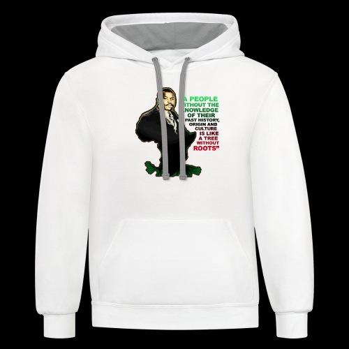 Marcus Garvey Afrika - Contrast Hoodie
