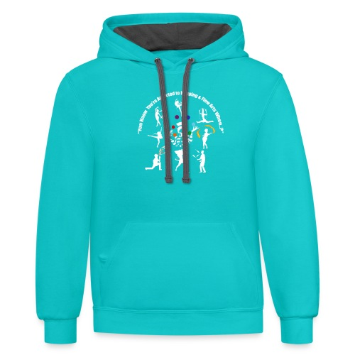 You Know You're Addicted to Hooping - White - Contrast Hoodie