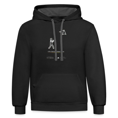 Life's better without wires: Kite - SELF - Unisex Contrast Hoodie