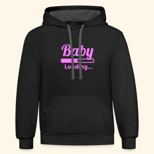 Pink Baby Loading - Contrast Hoodie