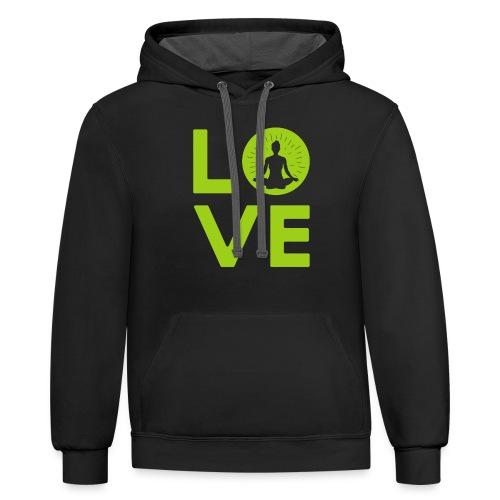 Love - Unisex Contrast Hoodie