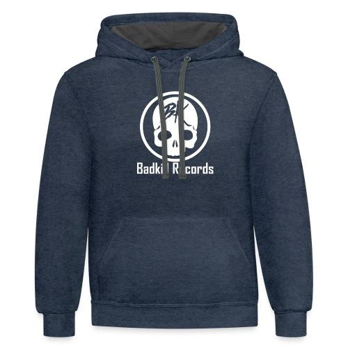 Badkill Logo White - Unisex Contrast Hoodie