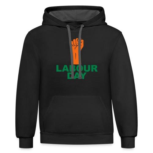 Labour day / Fist / 2c - Unisex Contrast Hoodie
