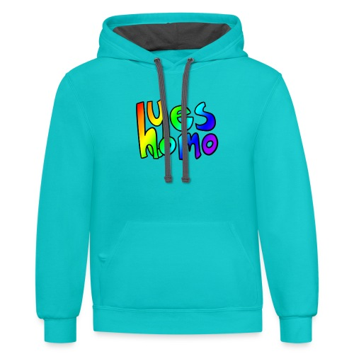 Yes Homo (Rainbow) - Contrast Hoodie