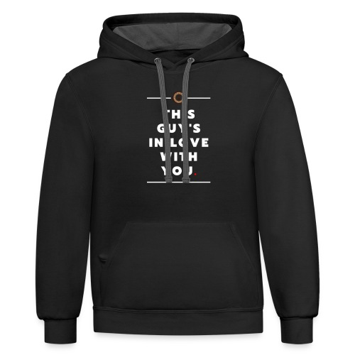 This Guy s white - Contrast Hoodie