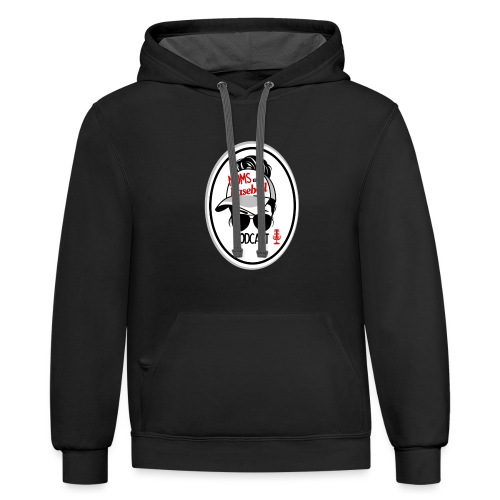Moms and Baseball - Unisex Contrast Hoodie