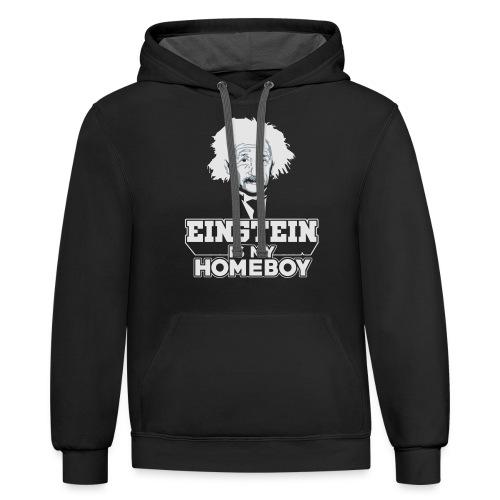 Einstein Is My Homeboy - Unisex Contrast Hoodie