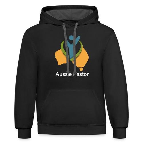 Aussie Pastor - Unisex Contrast Hoodie
