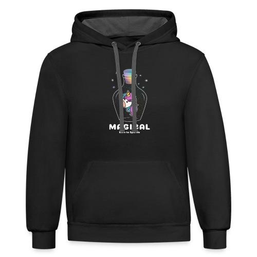 magical bottle design - Unisex Contrast Hoodie