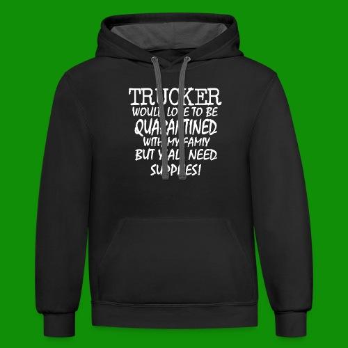 Trucker Supplies - Unisex Contrast Hoodie