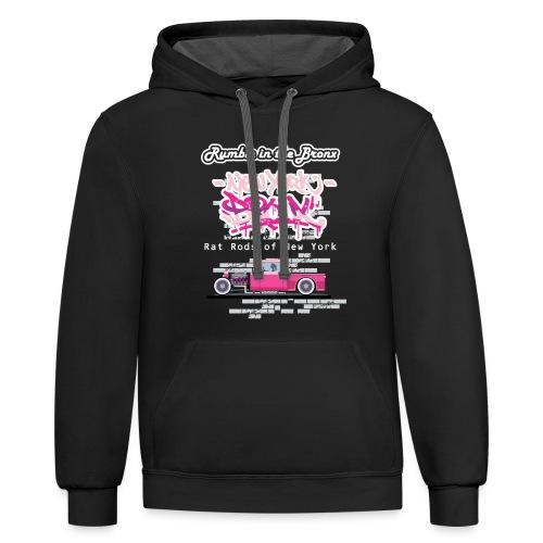 Rumble Bronx Pink Rat Rod 1 - Contrast Hoodie