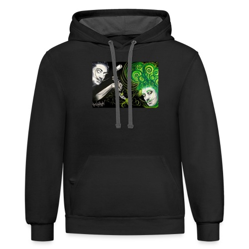 Doubled Dali - Unisex Contrast Hoodie