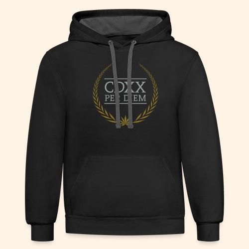 CDXX Per Diem - Unisex Contrast Hoodie
