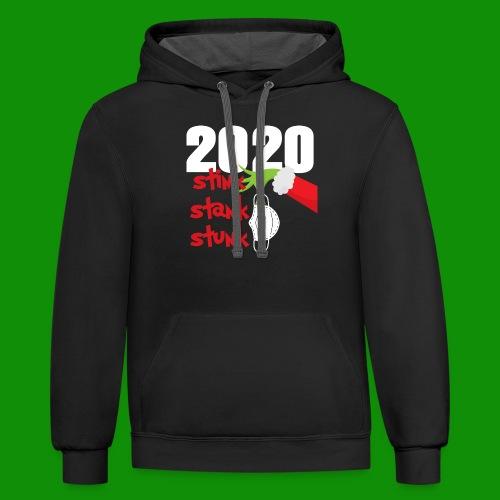 2020 Stink Stank Stunk Christmas - Unisex Contrast Hoodie