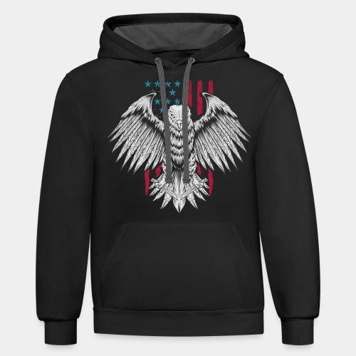 usa eagle american - Contrast Hoodie